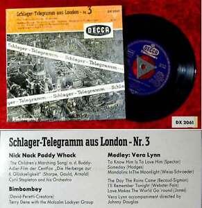 EP Schlager-Telegramm aus London Nr. 3 (Decca DX 2061) D 1956