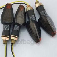 2 Paires 10mm carbone Feu Clignotant Ampoule 14 LEDs Jaune Pour Moto Universel