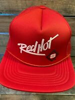 RED HOT Vintage Trucker Mesh Snapback Adult Cap Hat