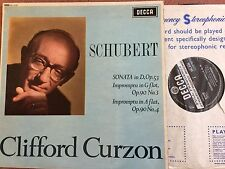 SXL 6135 WBG CLIFFORD CURZON Schubert Sonata in D & Impromptu in G and A