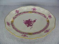"""Herend porcelain Apponyi Porpora modello piatto ovale 7.5"""""""