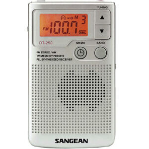 Sangean FM-Stereo / AM / PLL Tuning Pocket Radio - Model DT250 - Brand New