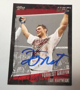 Forrest Griffin Signed UFC 2010 Topps Card #12 Autograph 59 62 76 86 106 126 148