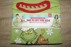 NEW The Grinch Kid's PJ Set Holiday Family Pajamas Christmas Loungewear