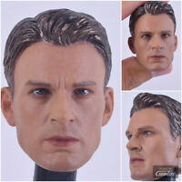 In-Stock 1/6 Scale Captain America Chris Evans Head Sculpt For Hot Toys Body