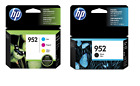 HP GENUINE 952 Black/Color 4-Pk ink Cartridges for Officejet 8710 8210 8720 8730