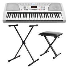 Digital 61-Tasten Keyboard E-Piano Klavier 100 Sounds Stativ Ständer Hocker Set