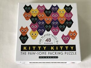 """Brainwright """"Kitty Kitty"""" 48 Puzzles Ages 8+. Very Cute And Fun!"""