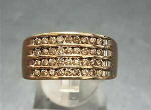 10ct Gold DIAMOND Men's Wedding Band Statement Ring Vintage Jewellery VAL @$1900