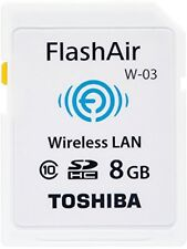 TOSHIBA wireless LAN-enabled FlashAir SDHC card 8GB Class10 made in Japan (domes