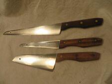 Vintage Lot of 3 LA BORDE Molybdenum Stainless Kitchen Chef Knives JAPAN