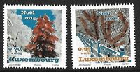 LUXEMBOURG 2015 Christmas 2v stamp set Unique Unusual Thermography MNH
