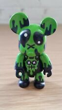 "RARE 2003 Toy2R Kidrobot Qee 2"" Black Green Bear Figure Mad Barbarians"