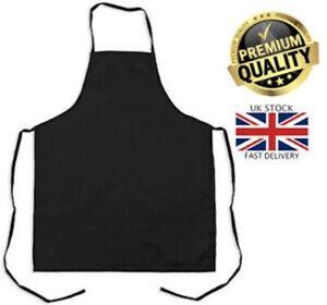 New Unisex Adult Plain Black Tie Waist Cooking Craft Chef Baking Apron Tabard