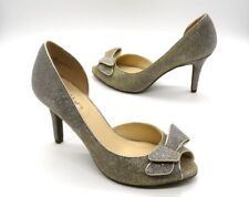 KELLY & KATIE Size 8.5 Sparkly Peep Toe Dressy Occasion D'Orsay High Heels
