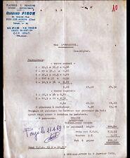 """DUN-sur-AURON (18) PLATRERIE PEINTURE VITRERIE """"Bernard PINON"""" en 1969"""