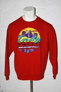 VTG Indianapolis 500 Indy 200 at Walt Disney World Red Crewneck Sweatshirt Sz XL