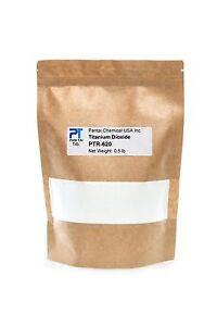 Titanium Dioxide 100% Pure White Pigment Colorant TiO2 PTR - 620  (0.50 lb) 8 oz