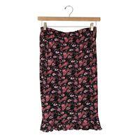 "Australian Vintage Skirt By ""RIPE"" - Pink & Black Paisley Hippy - Size 12-14"