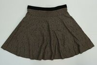 "Grace Elements Womens Skirt Flared A Line Sweater Knit 21"" Black Tan Pattern XL"