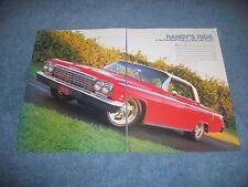 "1962 Chevy Impala SS RestoMod Article ""Randy's Ride"" Super Sport"