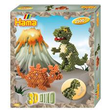 Hama 3D Dino - 2500 Midi Perlen Dinosaurier Bügeln Perlen Für Kinder