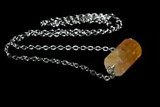 Citrine Pendant Necklace Natural Stone Crystal Success Abundance Prosperity