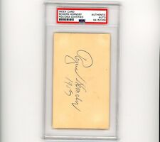 Rogers Hornsby Autographed Signed Index Card PSA/DNA St. Louis Cardinals BOLD