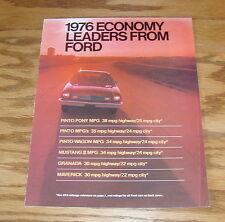 Original 1976 Ford Economy Leaders Sales Brochure 76 Mustang Maverick Pinto