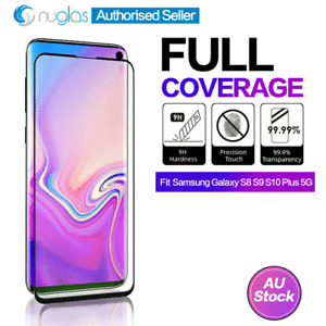 NUGLAS Samsung Galaxy S10 E 5G S8 S9 Plus Curved Tempered Glass Screen Protector