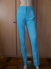 Pantaloni tg 42 Genny in renna color turchese