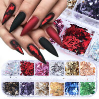 Nail Sequins Aluminum Irregular Flakes Nail Art Decoration Mirror Glitter Foil d