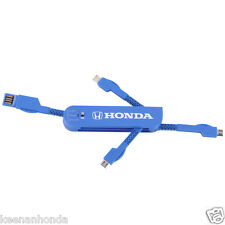 Honda Retractable Multi Blade USB Adapter Apple iPhone 5 6 iPad Lightning Droid