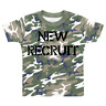 New Recruit Novelty Camo T-shirt Camouflage Children's T-shirt Kids Top Army
