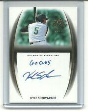 """Kyle Schwarber 2014 Leaf Trinity On Card RC Auto /10  """" GO CUBS """" INSCRIPTION"""