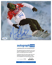 Mark McMorris Signed 2014 Sochi Olympics Snowboard 8x10 Photo EXACT Proof ACOA
