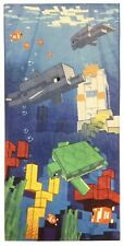 New Minecraft Shipwrecked Underwater Beach Towel 28in x 58in LIMITED