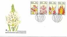 FLOWER EMIGRANTS OF SOUTH AFRICA; F.D.C. 23/8/58 SG 586-89 + INSERT.