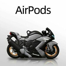 For Apple Airpods 1 2 Pro 3D Racing Motorcycle Silicone Shockproof Case Cover