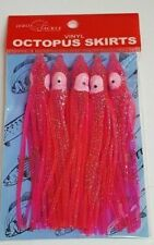 "4.75""  5 pk, Pink Octopus Skirts , Saltwater, Bait, Lures, Soft, squid"