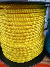 8MM Double Braided Rope Polyester Yacht Rope 40MTS Yellow