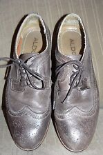 ALDO Oxford shoes Sz 12 45 Made in Portugal Light brown perforated leather VGC!