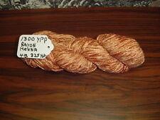 RAYON Chenille Yarn 1300 YPP 1 Skein, 4 oz. Color, Henna