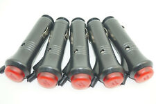 5pcs 12V Auto Car Cigarette Lighter Socket Plug Connector With Fuse LED & Switch