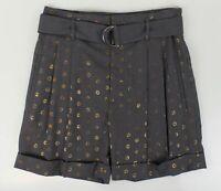NWT BRUNELLO CUCINELLI Women's Gray Cotton Blend Shorts Size 6/42 $1025