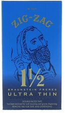 Zig-Zag Ultra Thin rolling papers (1.5*1 1/2) Blue - Box 24 PACKS