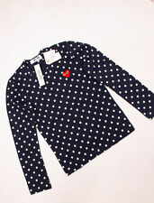 COMME DES GARCONS Damen Langarmshirt PLAY P1T65 PLAY POLKA DOT T-SHIRT RED