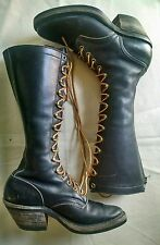 Vintage Women's Biltrite Lace Up Tall Work Biker Boots 6.5 / 7