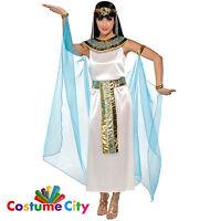 Womens Ladies Egyptian Queen Goddess Cleopatra Fancy Dress Halloween Costume