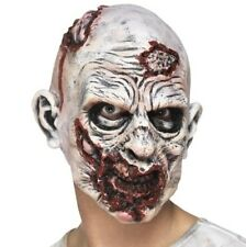 Halloween Fancy Dress Zombie Mask with Rotting Flesh New by Smiffys